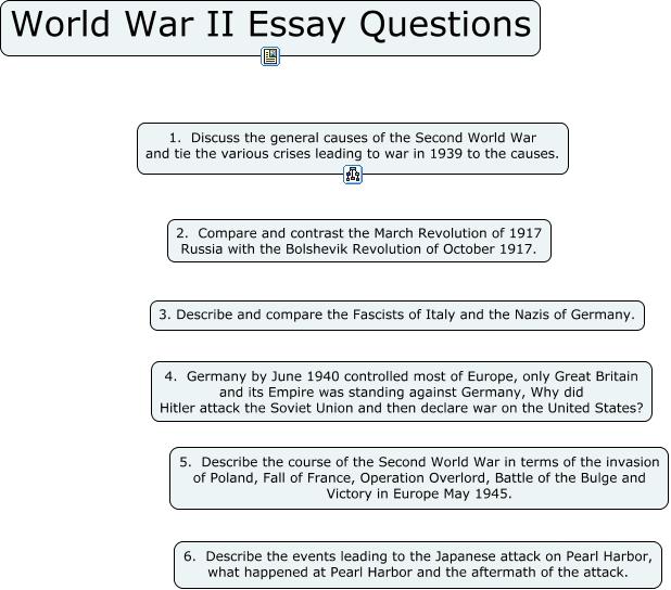 World war i essay questions