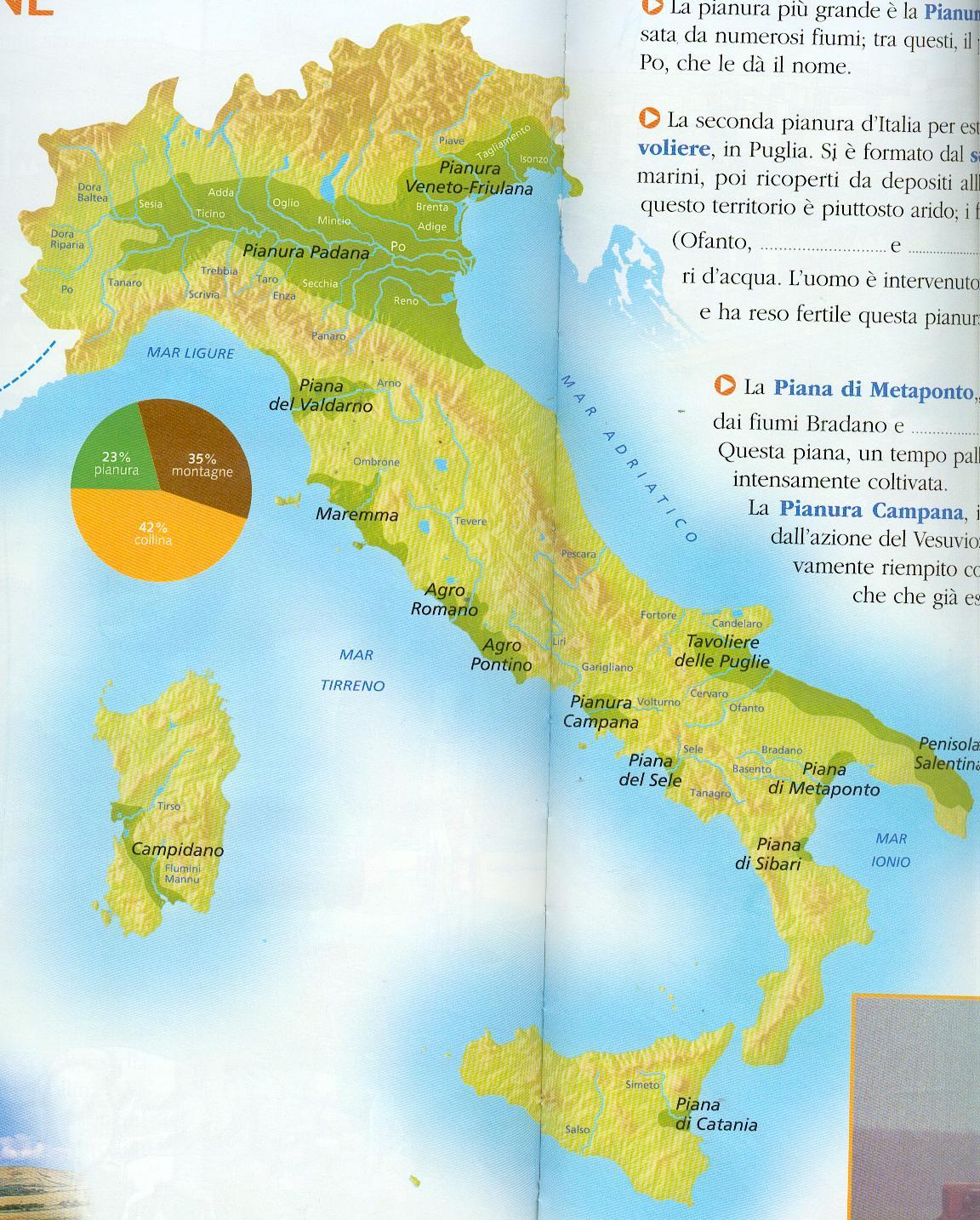 Cartina Italia Con Montagne Colline E Pianure.Mappa Europa Muta Fiumi