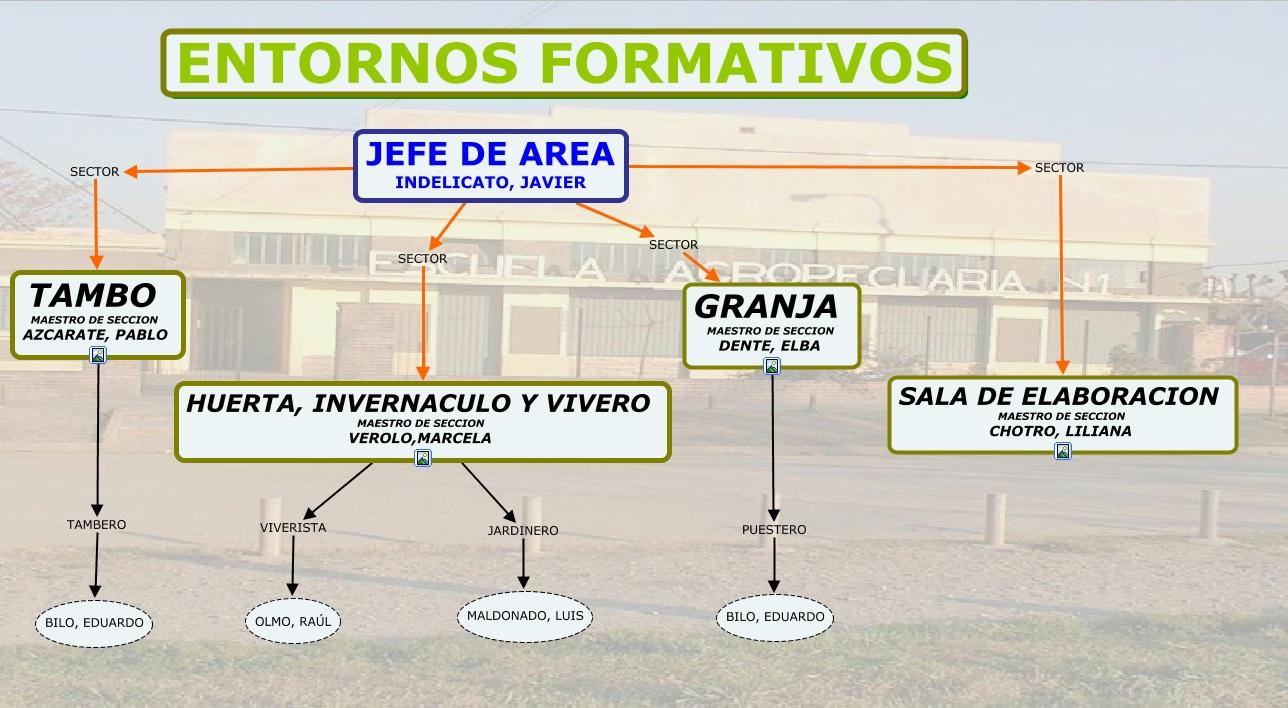 Organigrama entornos formativos for Fabricacion de viveros