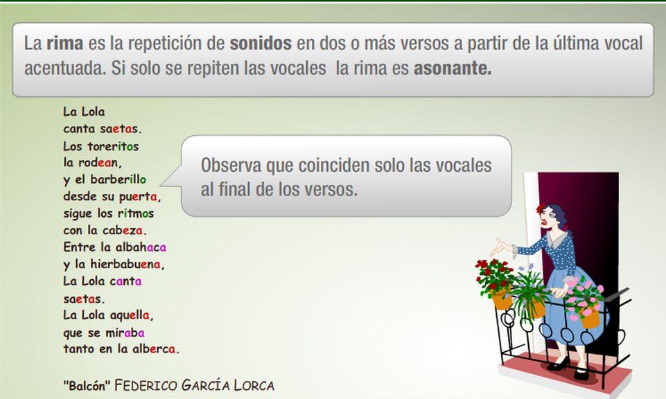 Rima Asonante Y Consonante Ejemplos