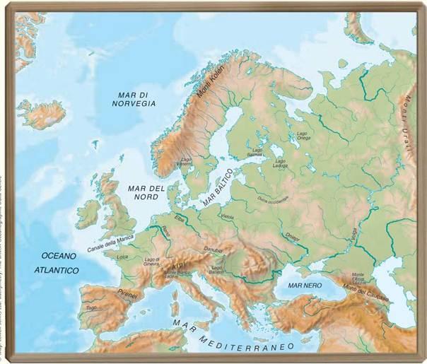 Cartina Muta Nord Europa.Carta Muta Europa Montagne