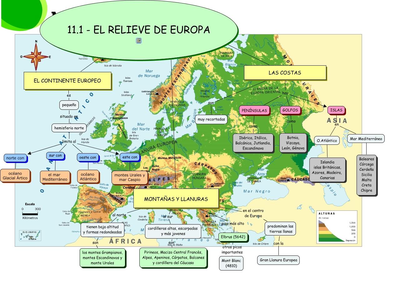 111 EL RELIEVE DE EUROPA
